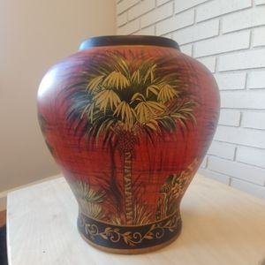 Other - Beautiful decorative vase floral palm tree